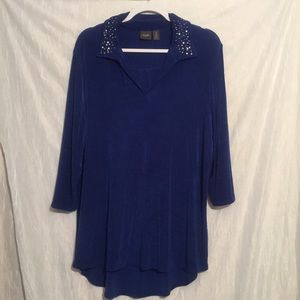 Chico's travelers blue tunic 3 xl Exceptional!
